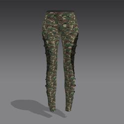 Green Camo Leggings - Black Straps (MsAquaria)