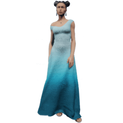 Gown Blue Gradient