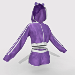 Hoodie and Shorts Violet