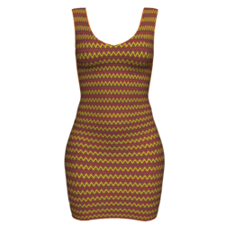Woman Simple Dress - Wavy