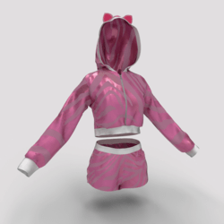 Hoodie and Shorts Pink