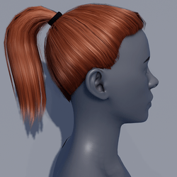 Hair - Pony Tail - Red Copper