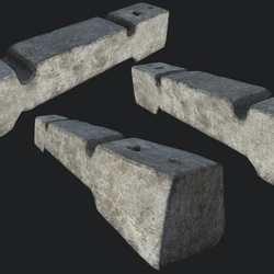 Small Concrete Barricade