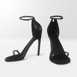 Ankle strap sandals for Nicci - leather black