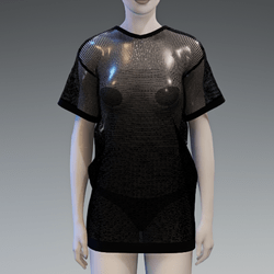 Black Gradient Fishnet Dress