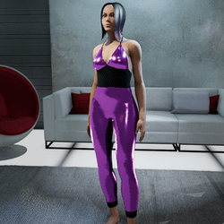 Jumpsuit metallic pink