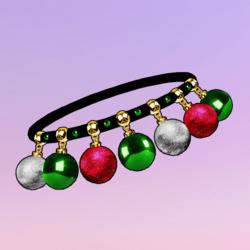 Ornaments Choker Pink Green Silver