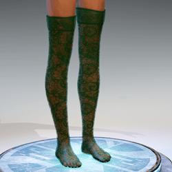 Transparent Stockings Green