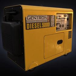 Wireframe - Diesel Generator