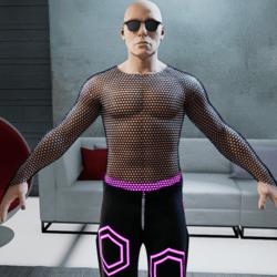 Fishnet Shirt Male