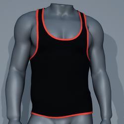 Sexy Men Tank - Black and Orange