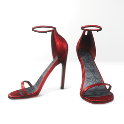 Ankle strap sandals for Nicci - glitter red