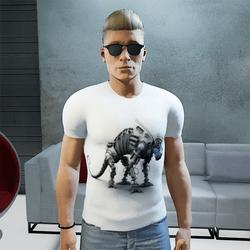 White camaleon T-shirt