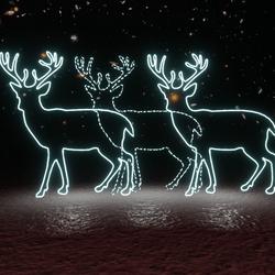 Reindeer Neon Sign Set (3 items)