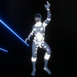Emissive Sci-Fi Cyber Robot white-animated