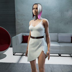 Dress Lara plastic white