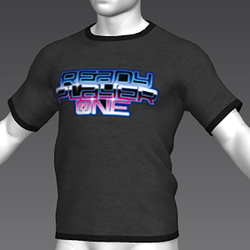 Ready Player One: Logo T-Shirt (Grey) (M)