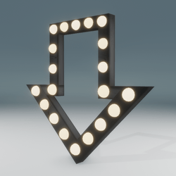 Marquee Blinking Arrow