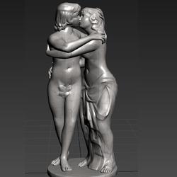 Statues Kiss Love