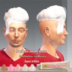 dyllan male  hair-infinity colors ( white base)