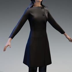 Winter Long Thick Black Coat ( Female )