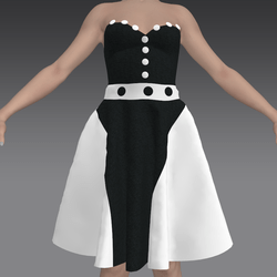 Rock and Roll Black and White Dress