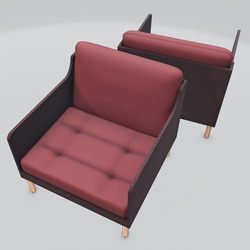 Chronicle Lounge Chair Red