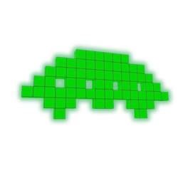 Invader Lamp Green [Animated]