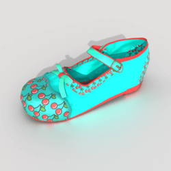 Mary-Jane Shoes Aqua Green