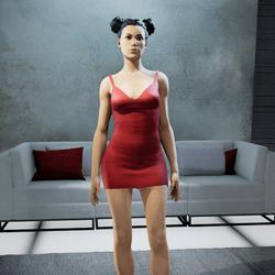 CLELIA strappy dress red
