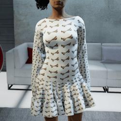 Bone Dress - cream