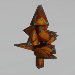 cubism bush - Triangle steel and rust