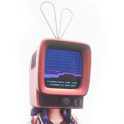 Animated TV Head (Perspective)