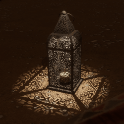Ground Lantern with Light