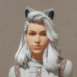 Cat Ears - White/Blue - Female