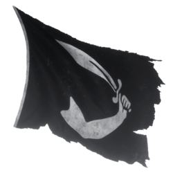 Pirate Flag 02 Blowing 02