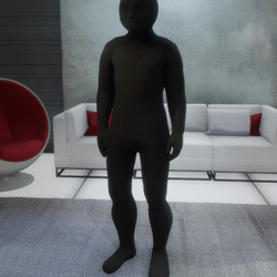 Black base to hide the male avatar. Clothing.