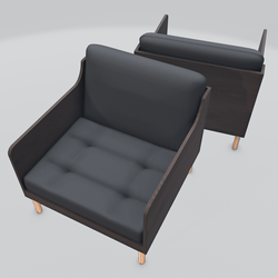 Chronicle Lounge Chair Black