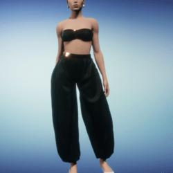 harem outfit_black