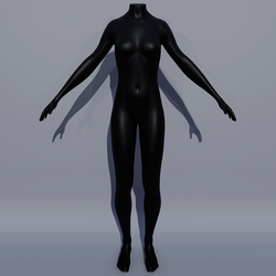 Woman AV2 Mannequin Avatar - Black