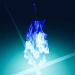 Blue Fire Bolt Particle
