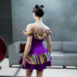 Mauve Mexican dress