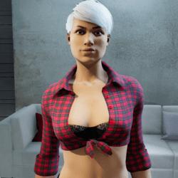 Lightweight shirt with bra