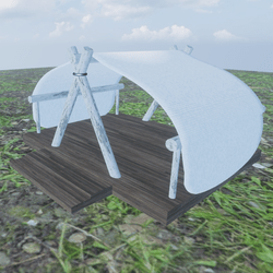 WOOD TENT-OUTDOORS (BROWN PLANK)