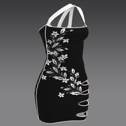 Black Dress white Flower by ACpixl