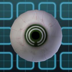 Subtle Grid Eyes - Green (F)