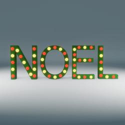 Noel Marquee Blinking Sign