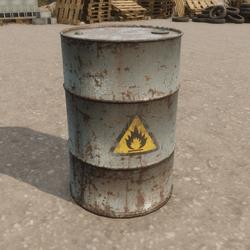 Oil Drum Metal Barrel (Grey)