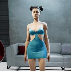 MIA mini dress turquoise