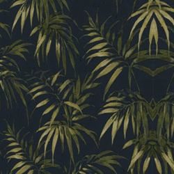 Dark Palm Leaf Wallcover
